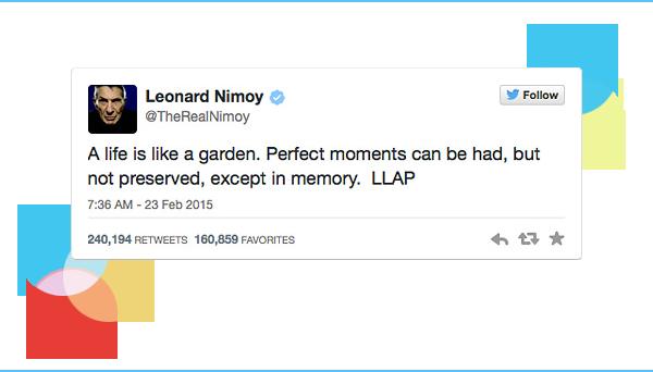Leonard Nimoy's final tweet