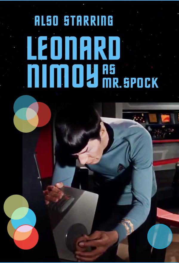 Mr Spock using the scanner on the bridge